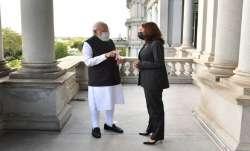 PM Modi Kamala Harris meeting, Washington