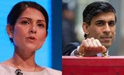 Priti Patel (L) and Rishi Sunak (R).