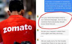 #RejectZomato trends after chat support executive asks Tamil Nadu customer to learn 'national langua