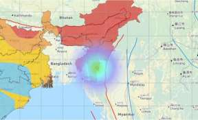 Magnitude-6.3 earthquake jolts South-West of Champhai in Mizoram