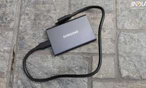 Samsung Portable T7 SSD offers a sleek design.