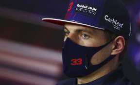 Red Bull driver Max Verstappen of the Netherlands attends