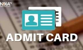NATA Admit card 2021