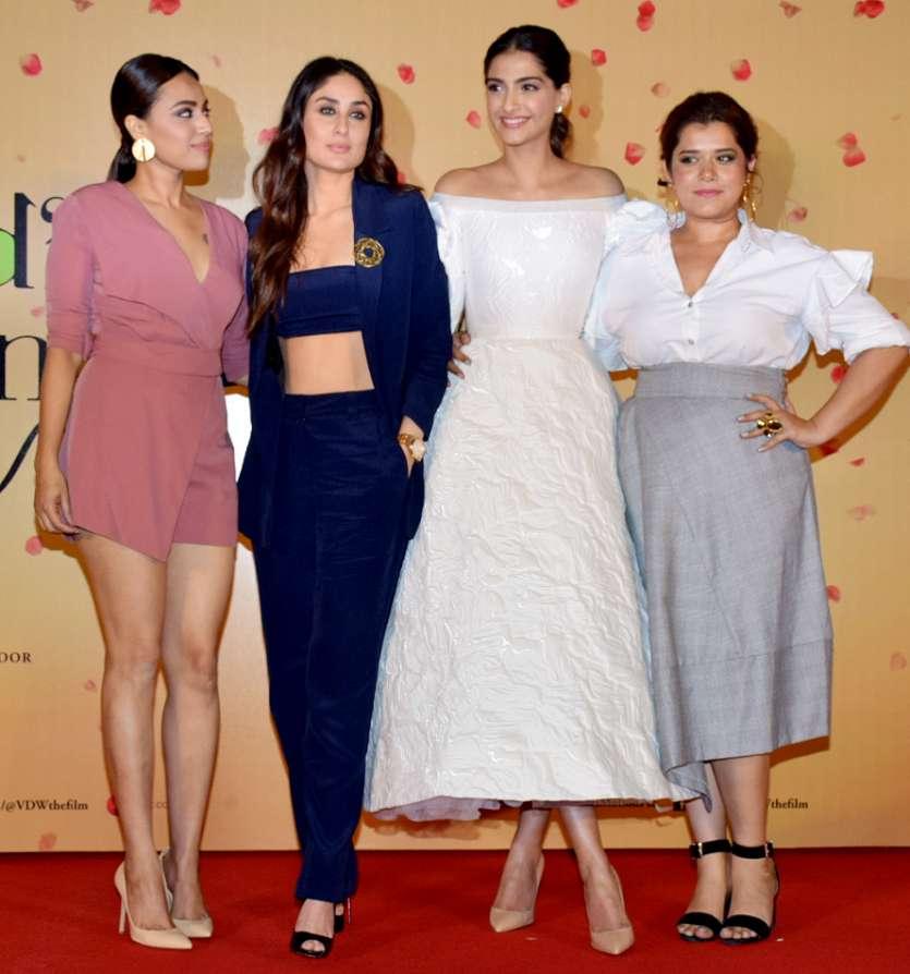Veerey Di Wedding.Sonam Kapoor Kareena Kapoor Swara Bhaskar Up The Fashion Game At