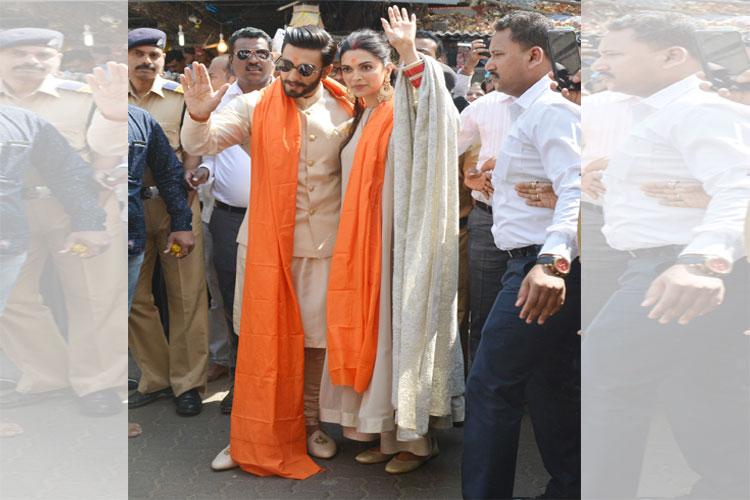 Deepika Padukone, Ranveer Singh visit Siddhivinayak temple
