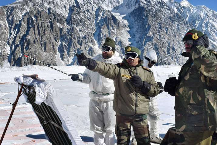 File photo of Indian Army soldiers at Siachen Glacier