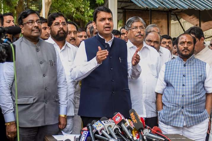 Maharashtra Chief Minister Devendra Fadnavis along with