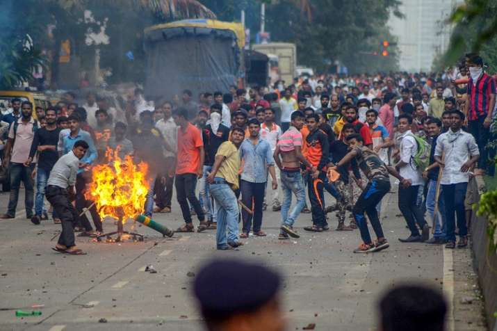 The protests demanding reservation for Maratha community