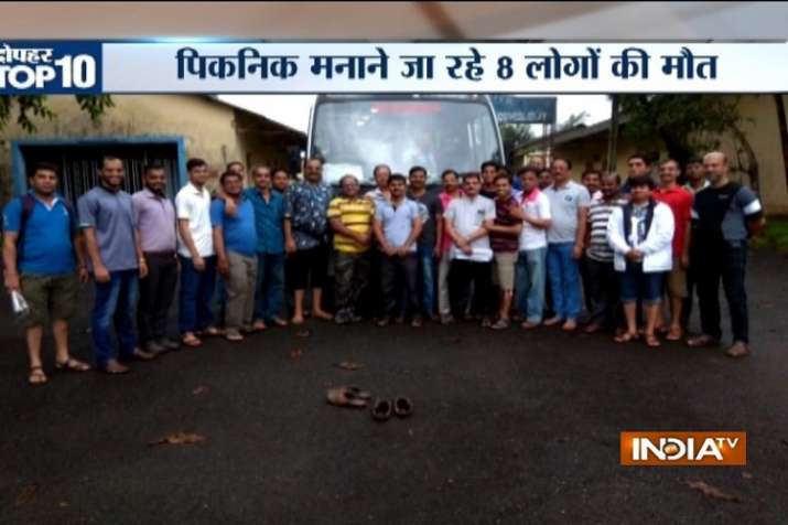 Bus with 25 onboard falls in deep gorge in Raigad, Maharashtra