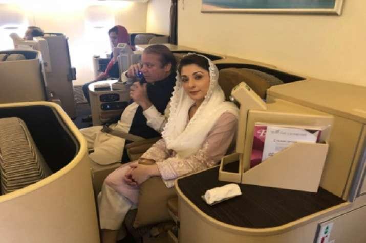 Nawaz Sharif and Maryam Nawaz have boarded the flight