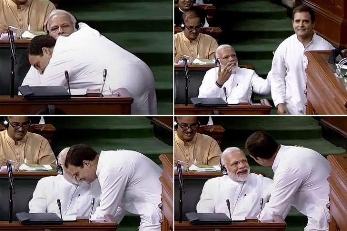 Rahul Gandhi hugged PM Modi on directions of a Tantrik,