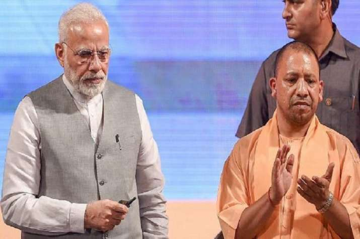 PM Modi during launch of 81 projects in Lucknow.