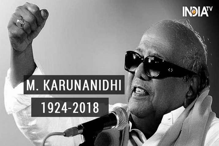 Karunanidhi death latest updates.