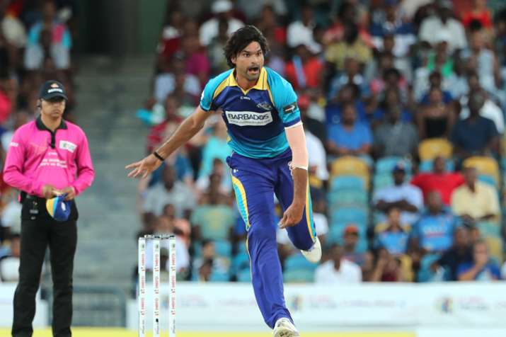 Pakistan's Mohammad Irfan bowls 23 dot balls in four-over spell during CPL T20 match