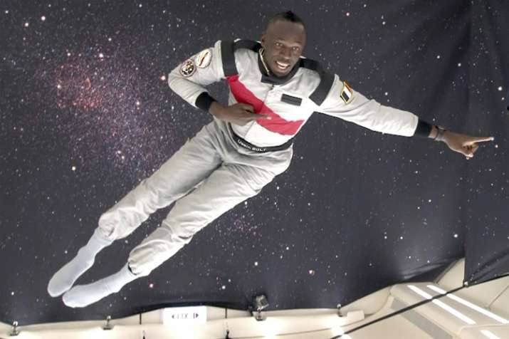 Eight-time Olympic champion Usain Bolt beats astronaut in zero gravity foot race