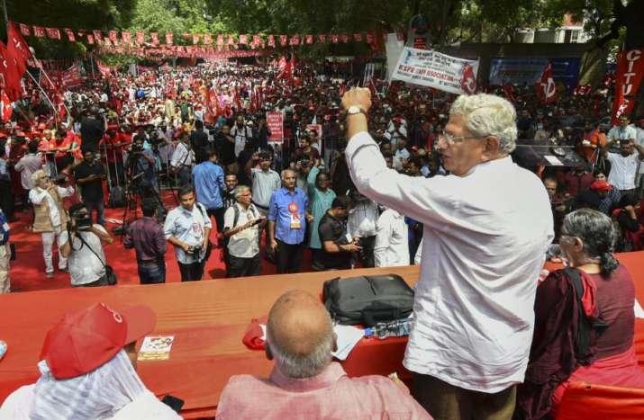 New Delhi: CPI(M) general secretary Sitaram Yechury (R)