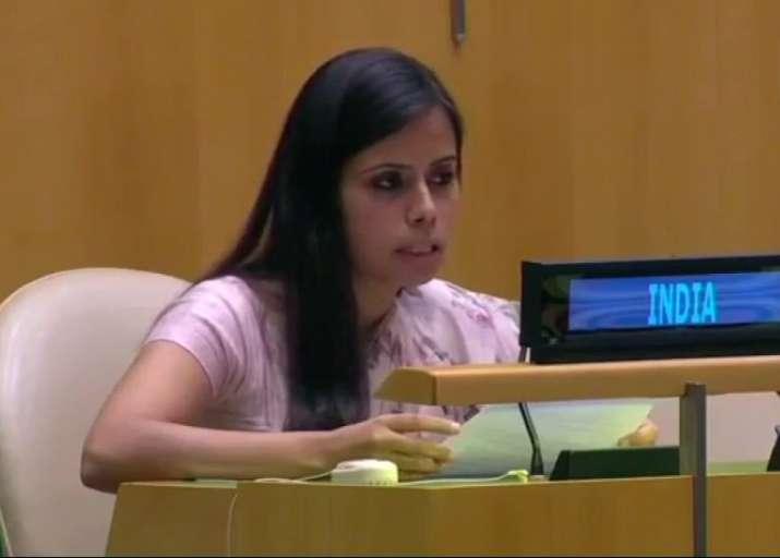 India's first secretary at the United Nations Enaam Gambhir