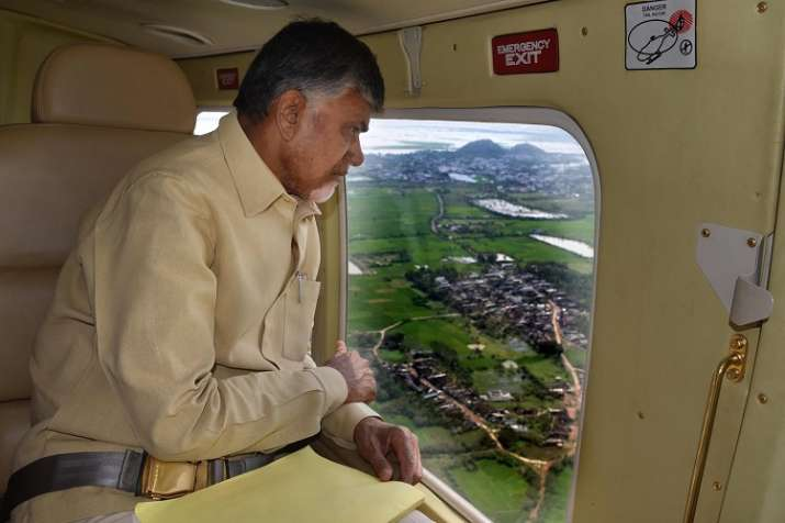 Andhra Pradesh Chief Minister N Chandrababu Naidu take a