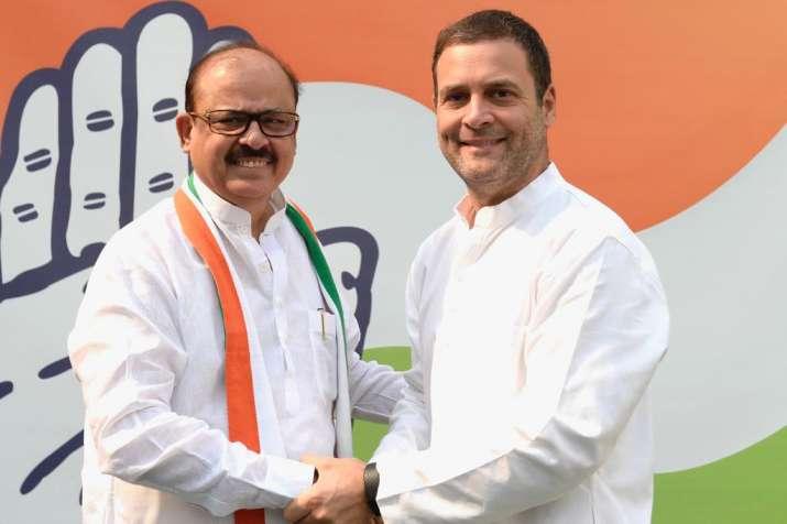 Tariq Anwar along with Congress President Rahul Gandhi.