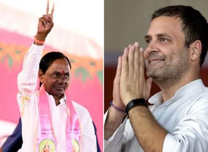 KCR and Rahul Gandhi