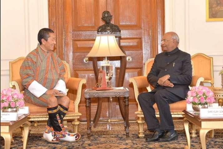President Ram Nath Kovind with Bhutanese PM Lotay Tshering