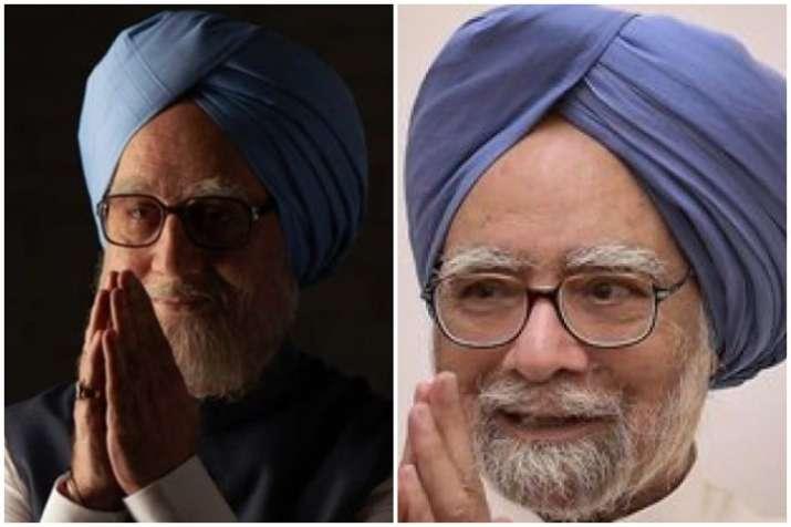 Anupam Kher as Manmohan Singh and Manmohan Singh
