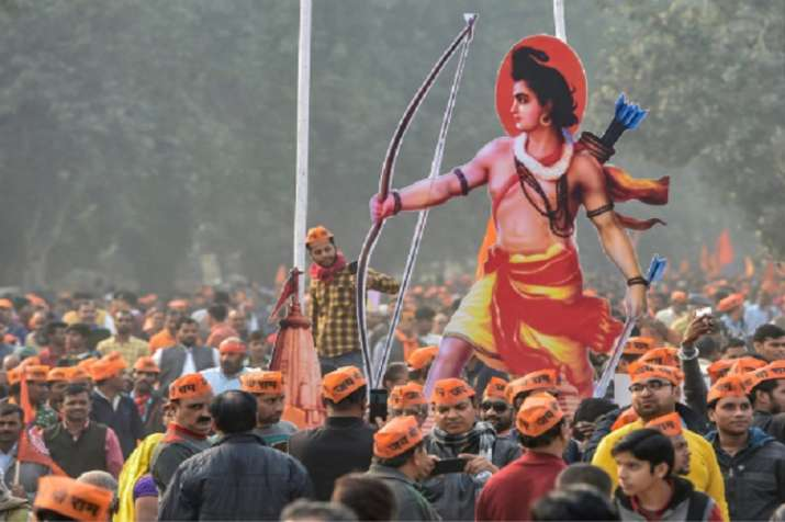Vishwa Hindu Parishad's (VHP) supporters gather