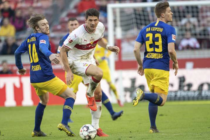 Former Germany striker Mario Gomez scored Stuttgart's