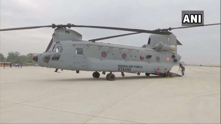 Chinook heavy-lift helicopters at Air Force Station 12