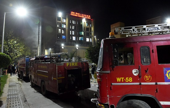The AIIMS, in a statement on Sunday said at around 5:45 pm smoke was noticed in one of the stores ad