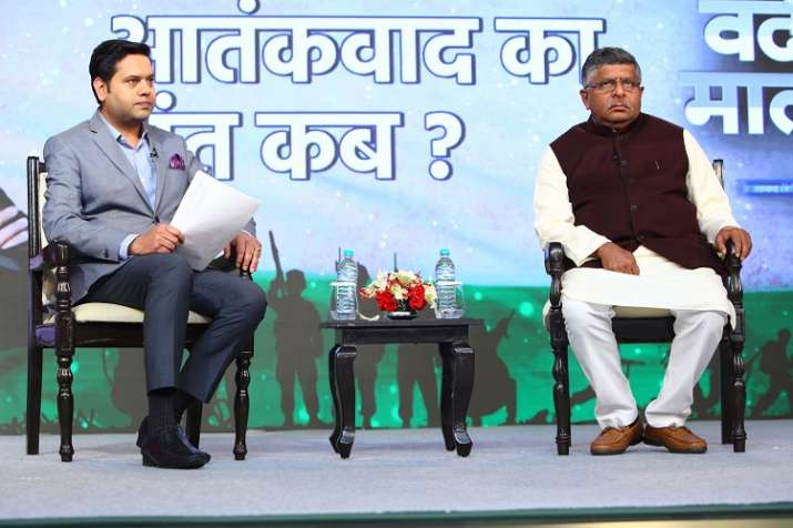 Union minister Ravi Shankar Prasad at India Tv Conclave