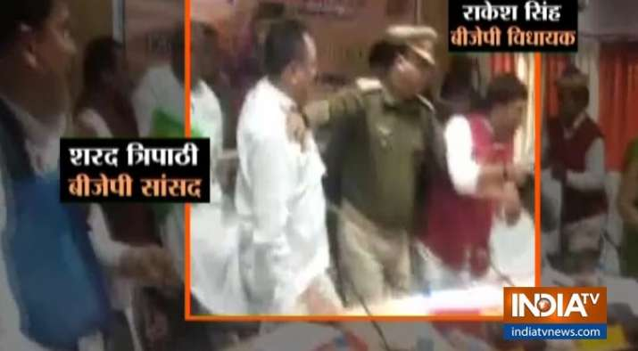 BJP MP, MLA exchange blows over placement of names on
