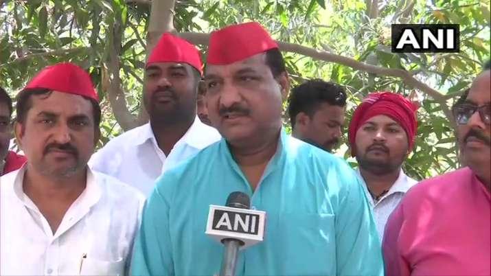 Ram Bhuwal Nishad, SP's candidate from Gorakhpur LS seat