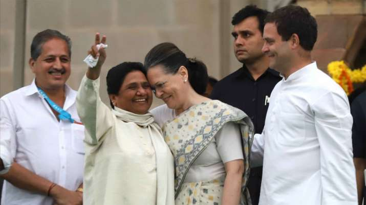 Mayawati on Tuesday took to Twitter and said the Congress