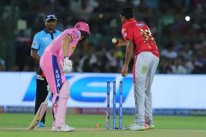 R Ashwin mankads Jos Buttler during IPL 2019
