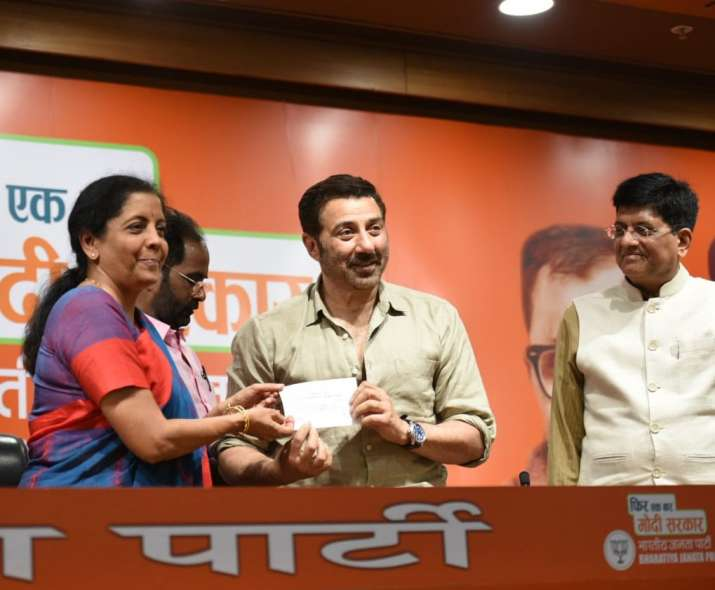 Actor Sunny Deol had joined BJP earlier today
