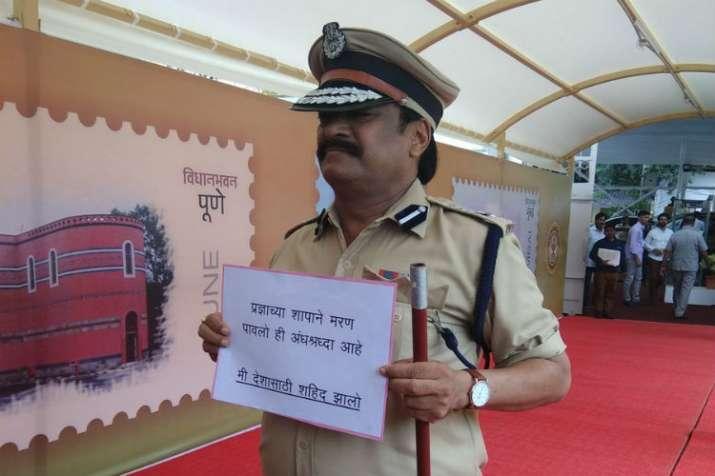 NCP MLCPrakash Gajbhiyedresses up as Hemant Karkare