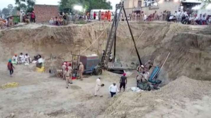 Rescue operation to recover child trapped in borewell