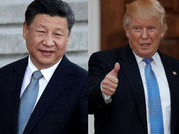 US President Donald Trump with Chinese President Xi