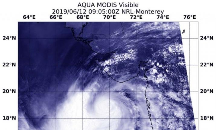 This is what cyclone vayu looks like from space