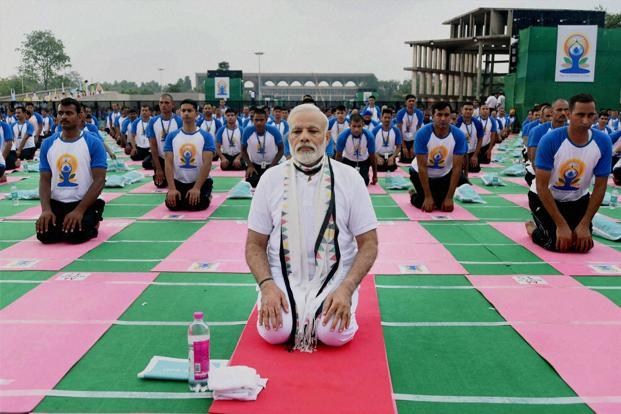 Representative image of World Yoga Day.