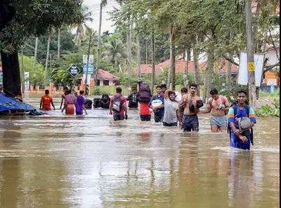 Two school children swept off in flood Representational