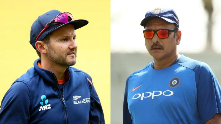Mike Hesson and Ravi Shastri