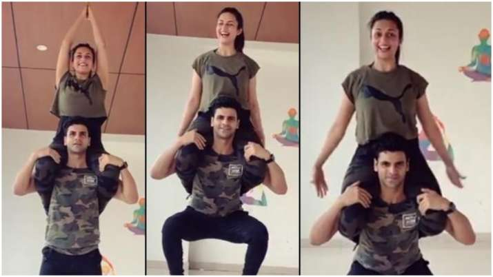 Divyanka Tripathi, Vivek Dahiya's latest workout video will give you couple goals