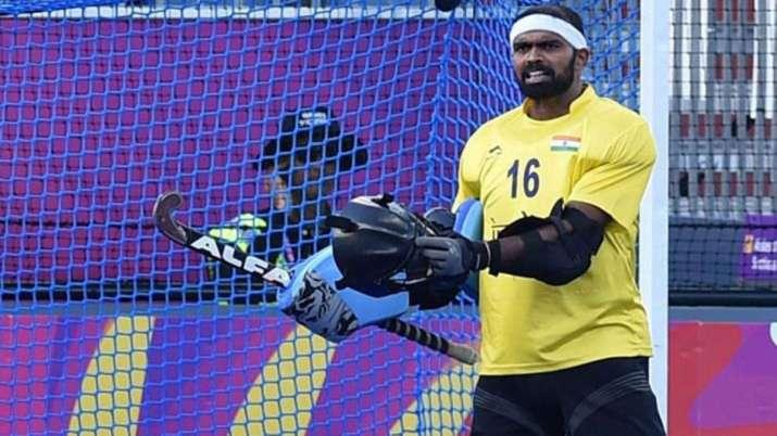 Indian hockey goalkeeper P R Sreejesh