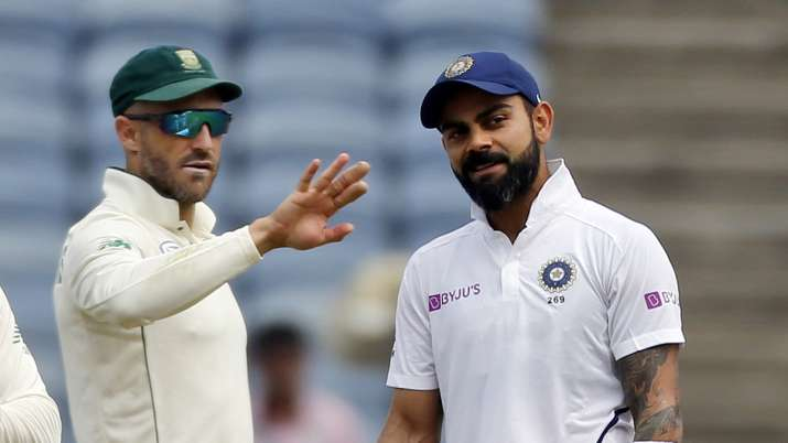 India's cricketer Virat Kohli and South Africa's Faf du