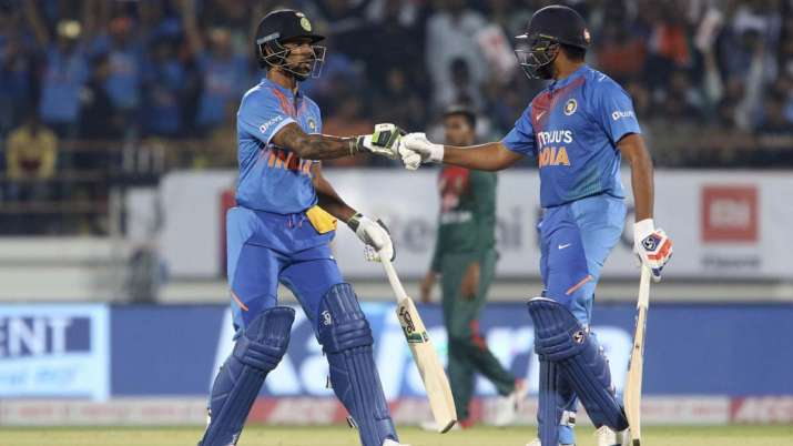 Rohit sharma, shikhar dhawan, india vs bangladesh