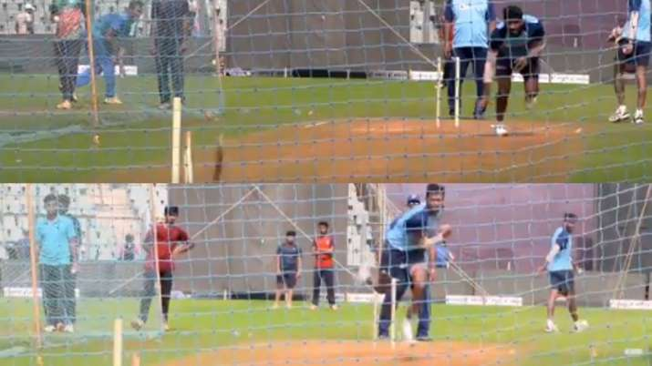 Bumrah and Saini on fire in the nets