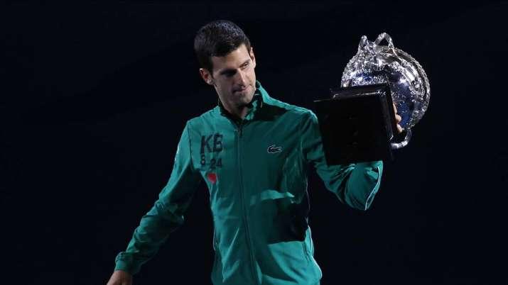 Novak Djokovic with Australian Open title