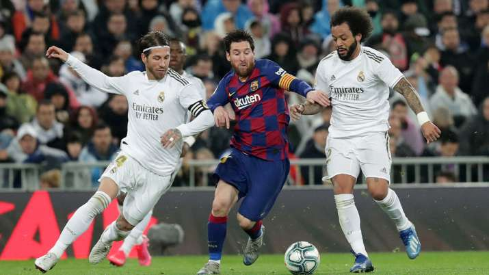 Barcelona are presently leading second-placed Real Madrid